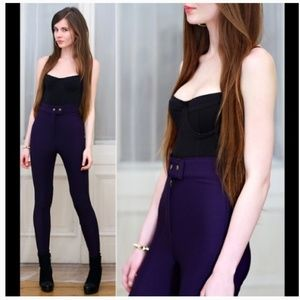 New Arrival  American Apparel Purple Riding Pants